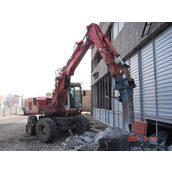 Демонтаж бетона гидромолотом