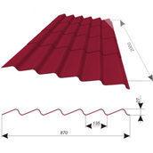 Покрівельний матеріал Керамопласт Каскад 2000 2000x900x5 мм червоний