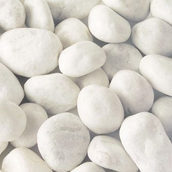 Мармурова галька Carrara 25-40 мм хмарно-біла