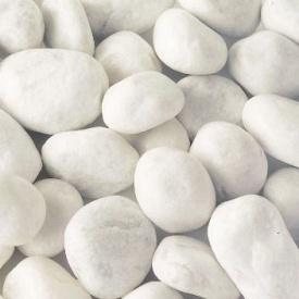 Мраморная галька Carrara 25-40 мм облачно-белая