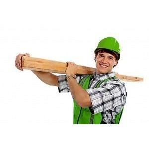 Разгрузка строительного материала