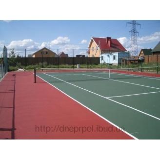 Тенісний корт для залів з наливним акриловим покриттям