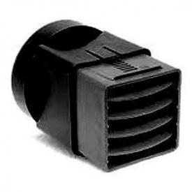 Адаптер до вентиляційного куба VILPE 110х100 мм чорний