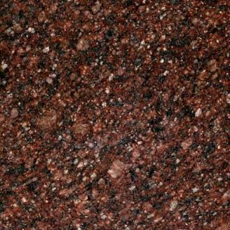 Гранитная плитка полированная Токовское 10 мм коричнево-вишневая