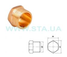 Заглушка латунная С.Т.А. наружная резьба 25 мм