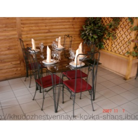 Комплект кованой мебели для ресторанов