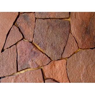 Природный камень песчаник 25 мм красный