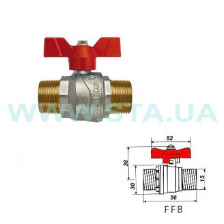 Кран шаровый С.Т.А. для воды НН 15 мм