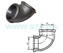 Угольник чугунный С.Т.А. В-В 32 мм