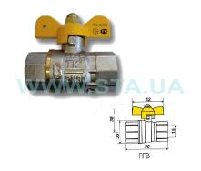 Кран шаровый С.Т.А. ТК газ ВВ бабочка 15 мм