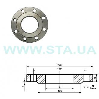 Фланец С.Т.А. плоский стальной Ру16 80 мм