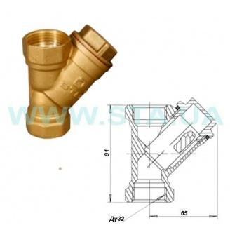 Фильтр для воды С.Т.А. латунный 32 мм