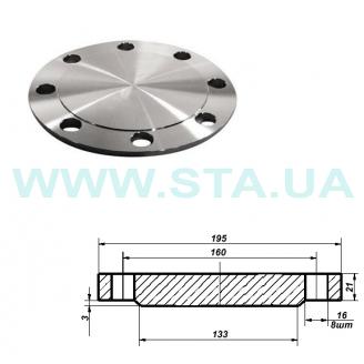 Фланец С.Т.А. глухой стальной Ру16 80 мм