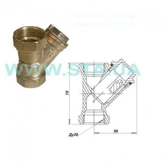 Фильтр для воды С.Т.А. латунный 20 мм