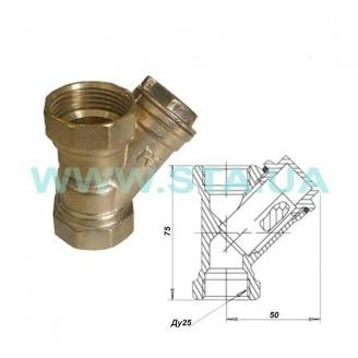 Фильтр для воды С.Т.А. латунный 25 мм