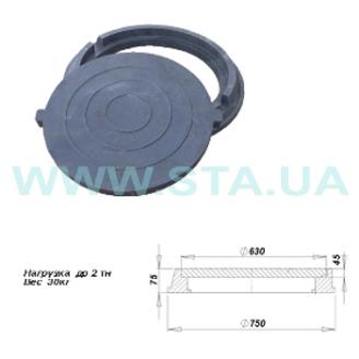 Люк полимерпесчаный легкий С.Т.А. 75x750 мм 2 т черный