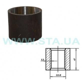 Муфта С.Т.А. прямая стальная 50 мм