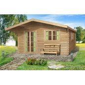 Проект річного дерев'яного гостьового будиночка 28 м2