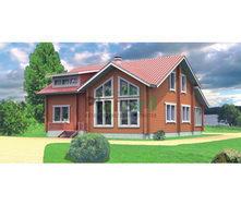 Проект каркасного будинку з мансардою 198 м2
