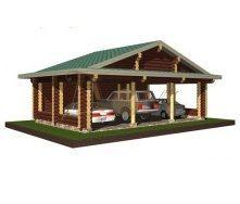 Проект деревянного навеса для авто 10*6 м
