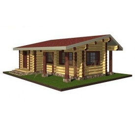 Проект деревянной одноэтажной беседки 6,9*9,1 м