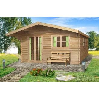 Проект летнего деревянного гостевого домика 28 м2
