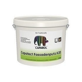 Штукатурка декоративная Caparol Capatect Fassadenputz K 20 25 кг белая