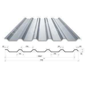 Профнастил Сталекс С-33 1115/1060 мм 0,50 мм AlZn Люксембург (Arcelor Mittal)