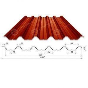 Профнастил Сталекс Н-44 1070/1025 мм 0,65 мм PE Польща (Acelor Mittal)