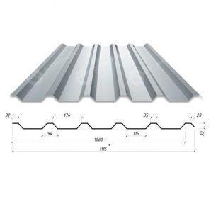 Профнастил Сталекс Н-33 1115/1060 мм 0,70 мм Zn Румунія (Arcelor Mittal)