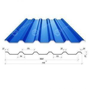 Профнастил Сталекс Н-33 1115/1060 мм 0,65 мм PE Польща (Acelor Mittal)