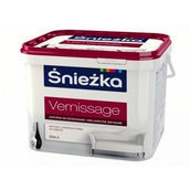Матовая латексная краска Sniezka Vernissage 1,4 кг снежно-белая
