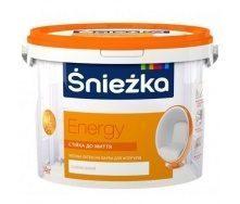 Матовая латексная краска Sniezka Energy 1,4 кг снежно-белая
