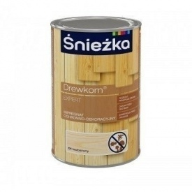 Защитно-декоративная пропитка Sniezka Drewkorn Expert 0,9 л прозрачная