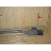 Монтаж пластикової труби каналізації 150 мм