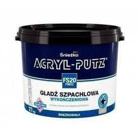 Финишная шпаклевочная гладь Sniezka Acryl-putz fs 20 finisz 8 кг белоснежная