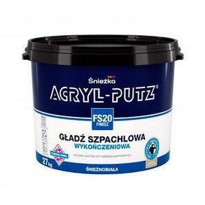 Финишная шпаклевочная гладь Sniezka Acry-lputz fs 20 finisz 27 кг белоснежная