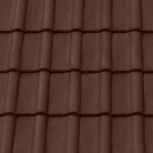 Керамічна черепиця крайня права Tondach Румба Угорщина 300х500 мм коричнева
