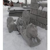 Бетонна скульптура Лев сидячий