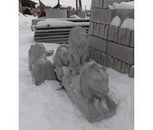 Бетонная скульптура Лев сидячий