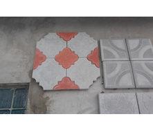 Тротуарная плитка бетонная Декор серая