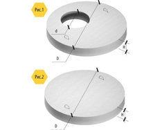 Крышка для железобетонных колец ПП 0,96х0,15 м