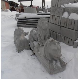 Бетонная скульптура Лев лежащий