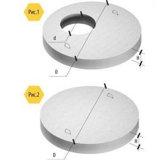 Крышка для железобетонных колец ПП 1х0,15 м