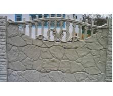 Забор декоративный железобетонный №1 Рваный камень 1,5х2 м