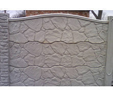 Забор декоративный железобетонный №5 Песчаник глухой 1,5х2 м