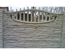 Забор декоративный железобетонный №10 Песчаник арочный 2х2 м