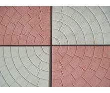 Плитка тротуарная Кольца 35х295х295 мм