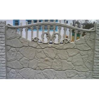 Забор декоративный железобетонный №1 Рваный камень 2х2 м