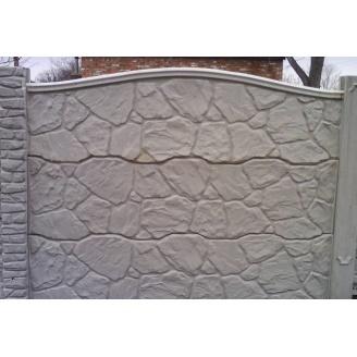 Забор декоративный железобетонный №5 Песчаник глухой 2х2 м